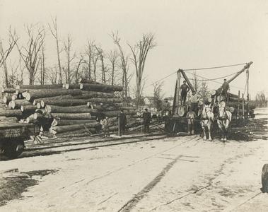 Lumber Yard and Camp, Menomonee Falls
