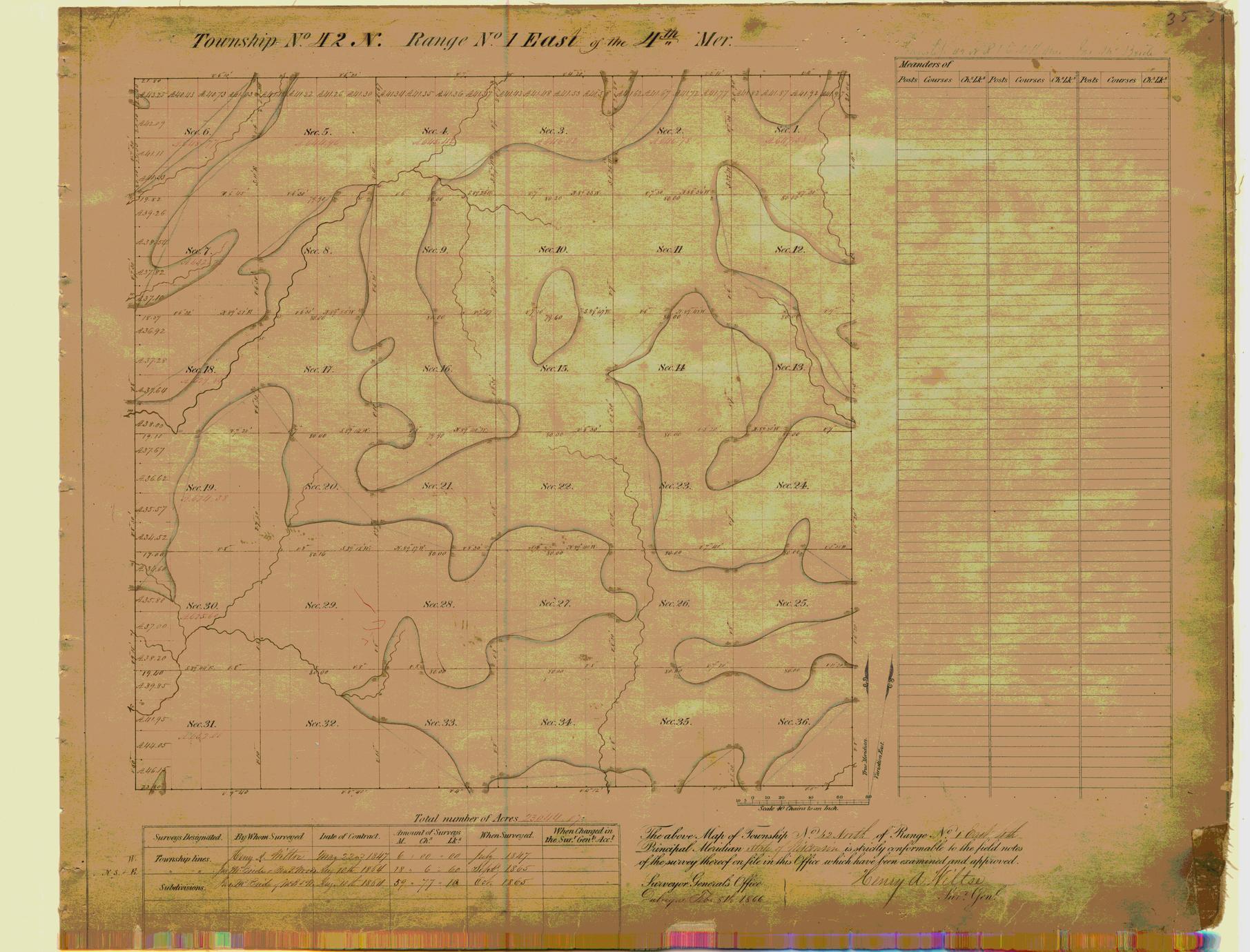 [Public Land Survey System map: Wisconsin Township 42 North, Range 01 East]