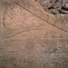 Hieroglyphics in Tomb Showing Fisherman