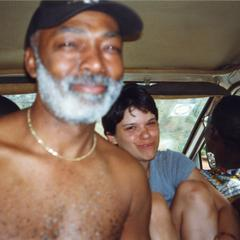 Jims Stills and woman in van