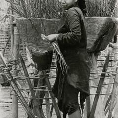 Lanten woman in traditional dress in Houa Khong Province