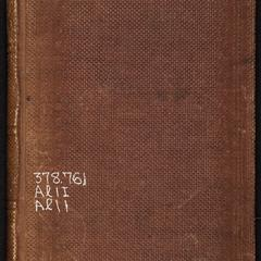 Regulations for the University of Alabama, at Tuscaloosa : with appendix, containing extracts from the army regulations, and from the rules and articles of war