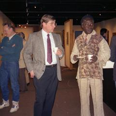 Agbo Folarin and Dick Ammann at reception