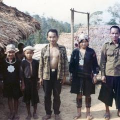 Akha village headman and his wife at the village of Phate in Houa Khong Province