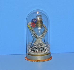 """Shocking"" glass perfume bottle"
