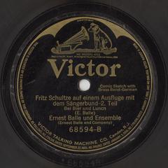 Fritz Schultze auf einem Ausfluge mit dem Sängerbund-- 2. Teil