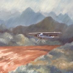 Oil painting : Monsoon landing