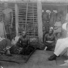 Belgian Colonial Governor of Leopoldville Province Visits Lukengo or King (Nyim) of Kuba