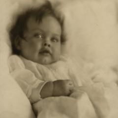 One of the Vincent children as an infant