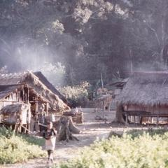 A Yellow Lahu (Lahu Shi) village in Houa Khong Province