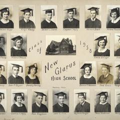 1938 New Glarus High School graduating class