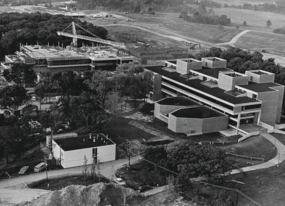 Aerial view of campus from the north
