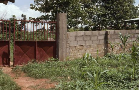 Entrance to gari processing site
