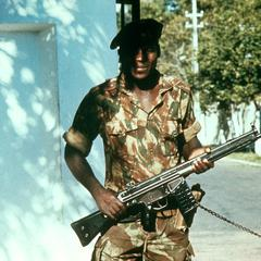 Soldier in the Portuguese Colonial Army