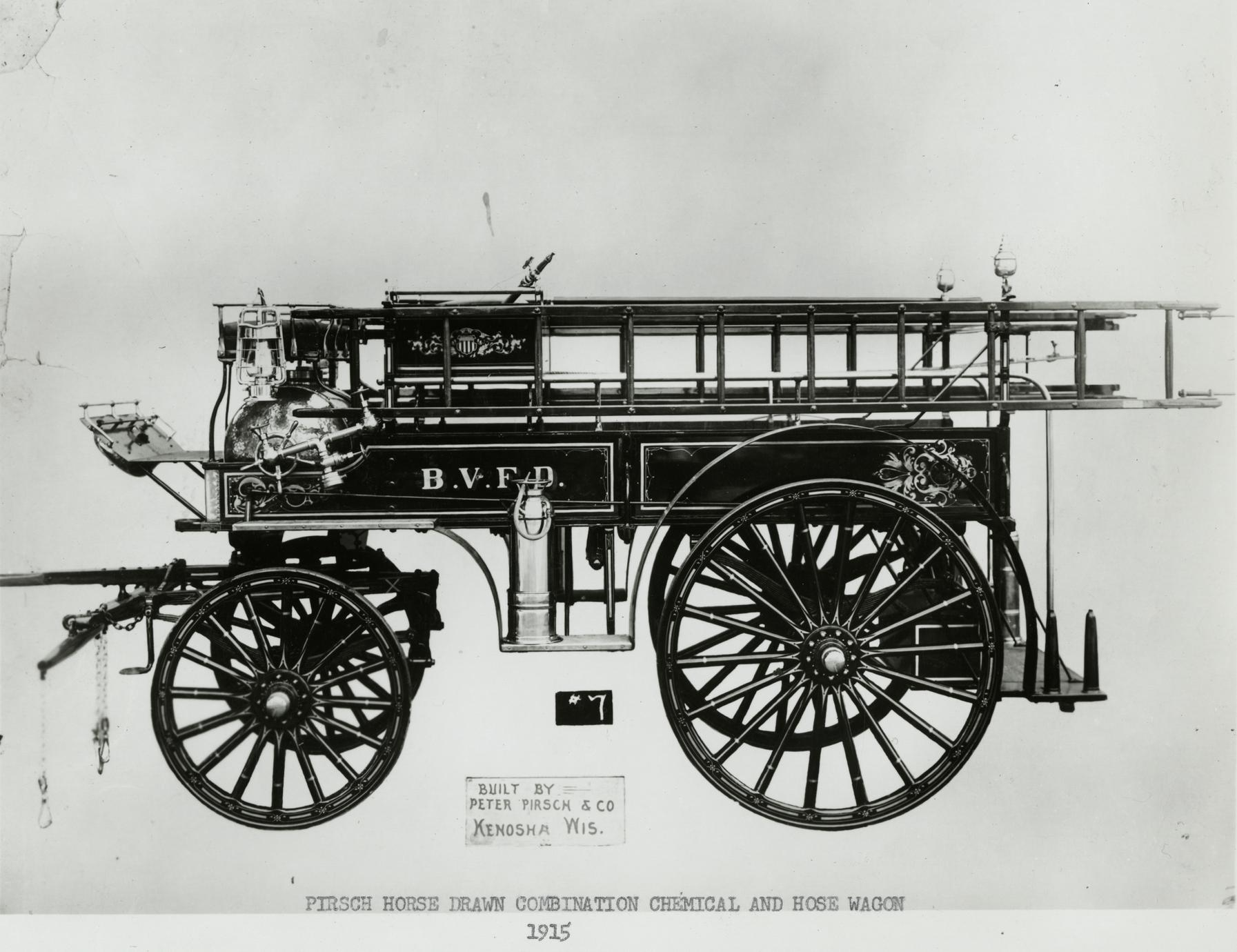 Pirsch horse-drawn fire wagon