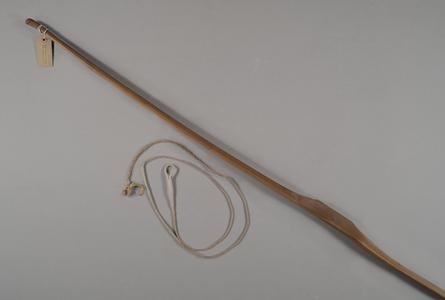 Bow made by Aldo Leopold with bowstring