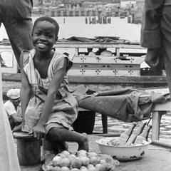 Orange Seller along Quay in Freetown
