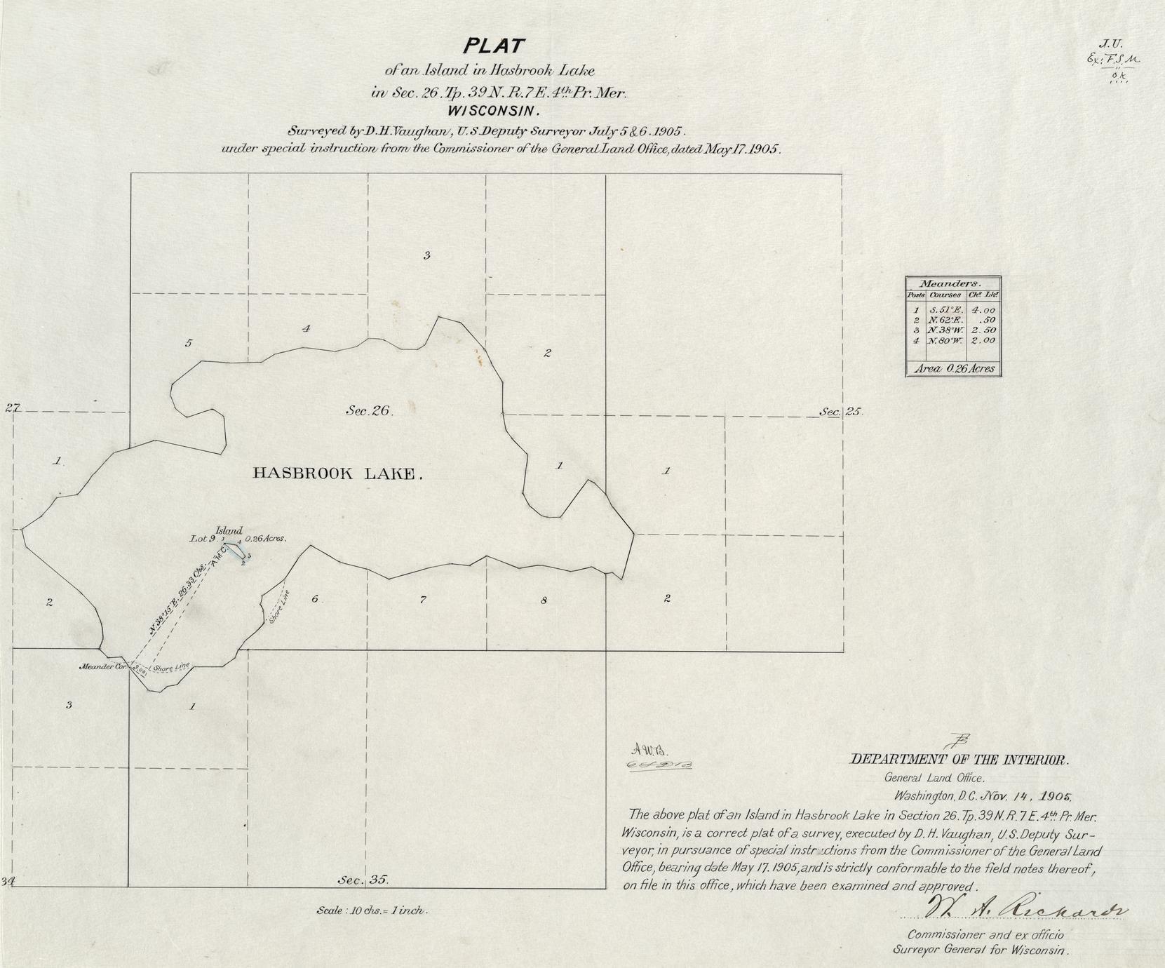 [Public Land Survey System map: Wisconsin Township 39 North, Range 07 East]