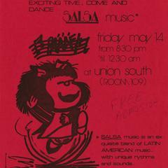 Poster for salsa music