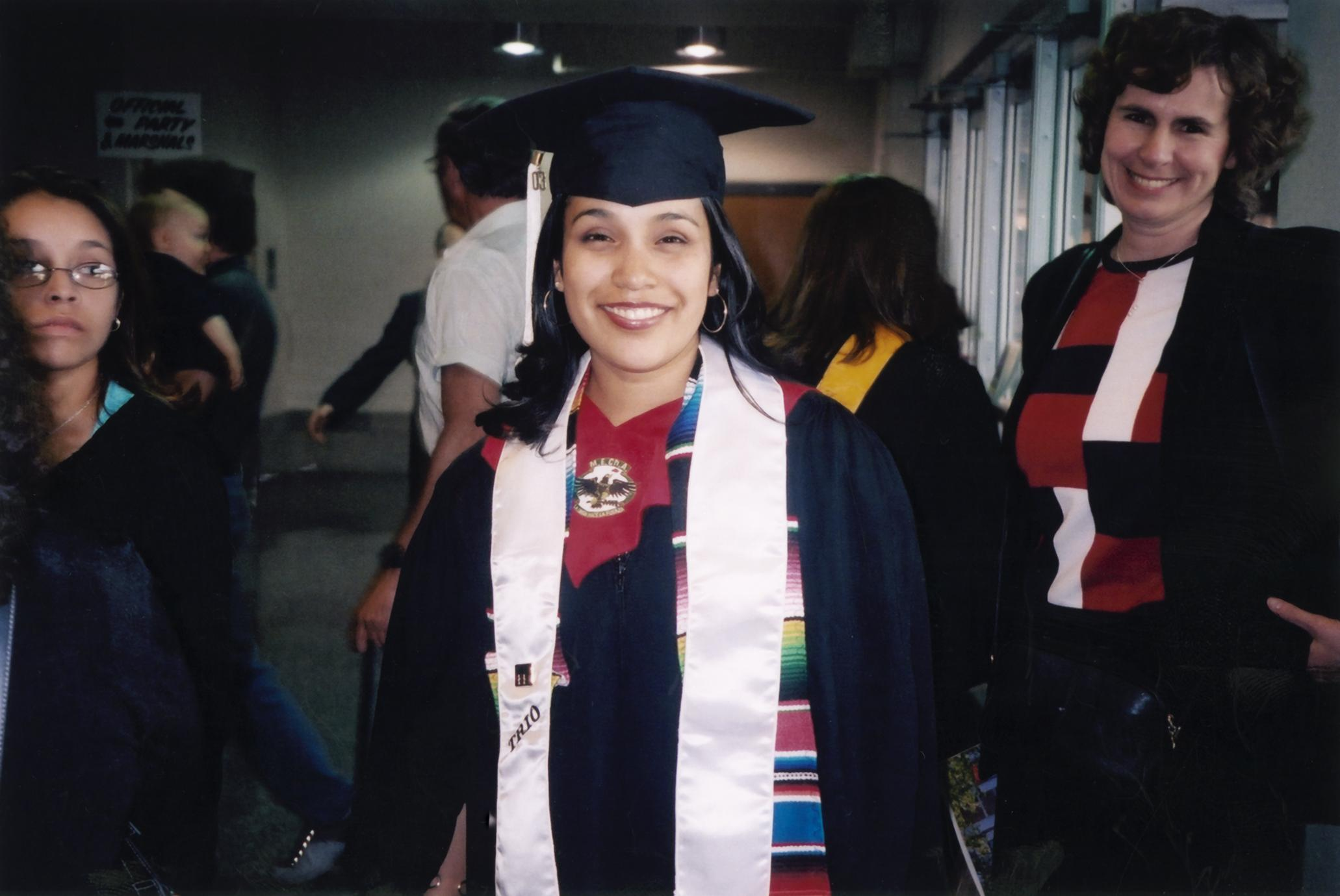 Gladys Reyes at 2003 graduation