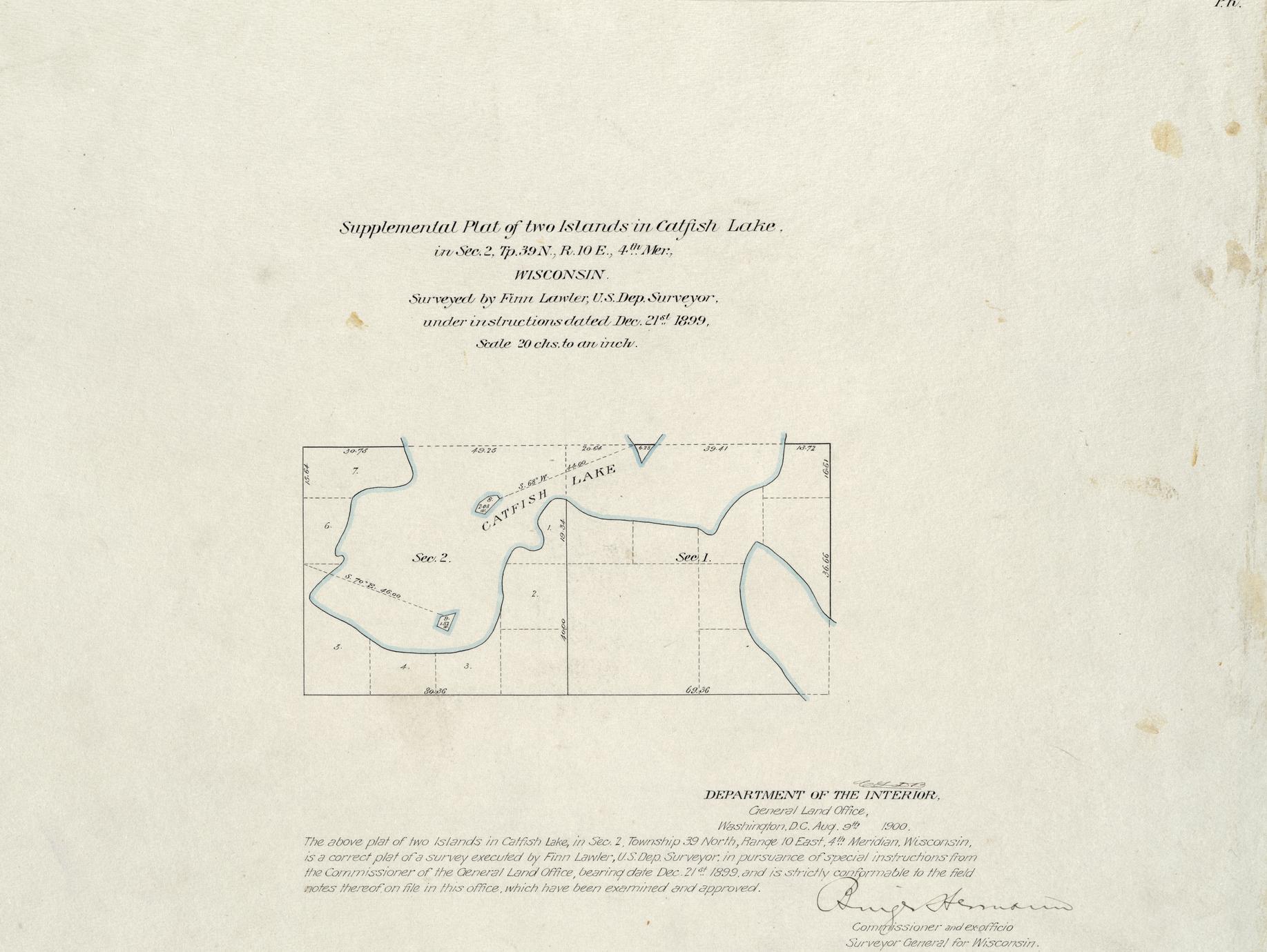 [Public Land Survey System map: Wisconsin Township 39 North, Range 10 East]