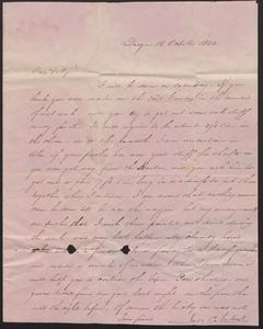 Letter from James C. Norton, Quogue, Felix Dominy, 1832