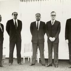 King of Laos with American personnel