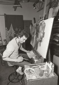 Art Student, Painting, Janesville, ca. 1980