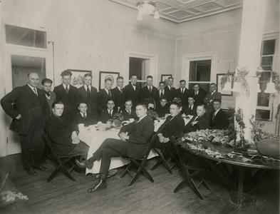 1921 Miners Football banquet at the Wisconsin Mining School