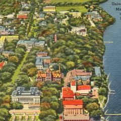 Aerial UW Madison, ca. 1946-1953
