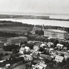 Aerial, UW-Madison, ca. 1906-1912