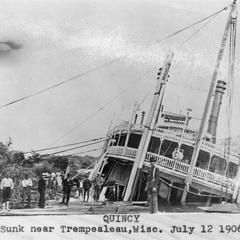 Quincy, sunk near Trempealeau, Wisc. July 12, 1906