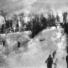 Ski meet crash