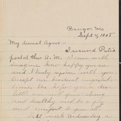 [Letter from Minnie Ruedy to Agnes Sternberger Husting, September 4, 1908]
