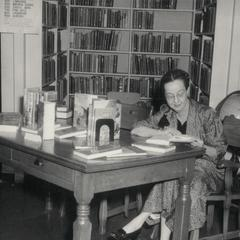 Librarian Catherine Casey in New Richmond Library
