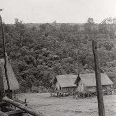 Two Nyaheun houses in the village of Keokhunmeung in Attapu Province