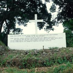Marker Commemorating the Treaty between the French and King  Quaben
