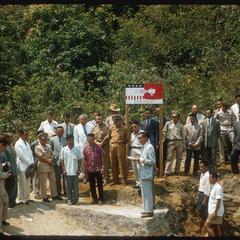 United States Operations Mission (USOM) dam dedication ceremony