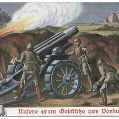 Unsere 42 cm Geschütze vor Verdun