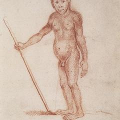 Abbildung 10 : Der Jocko oder der kleine Waldmensch (Schellenberg, um 1800)