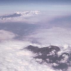 Aerial View of Mount Kilimanjaro and Mount Kenya