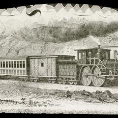 Passenger and mail train of the late 1860s