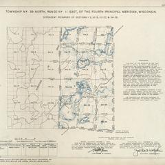 [Public Land Survey System map: Wisconsin Township 39 North, Range 11 East]