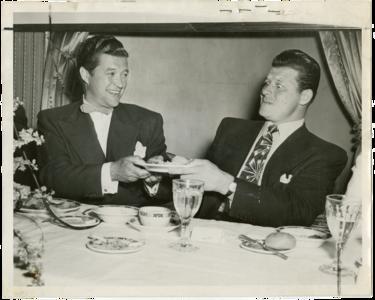 Dennis Morgan and Jack Carter