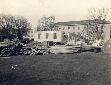 Infirmary addition under construction