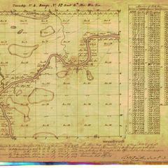 [Public Land Survey System map: Wisconsin Township 04 North, Range 12 East]