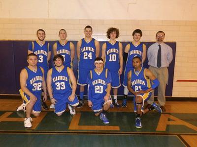 Men's basketball team, University of Wisconsin--Marshfield/Wood County, 2014
