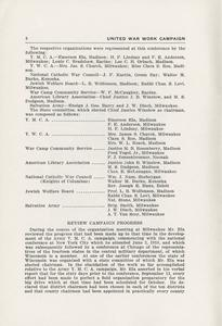 Page 10 - United War Work Campaign as conducted in Wisconsin