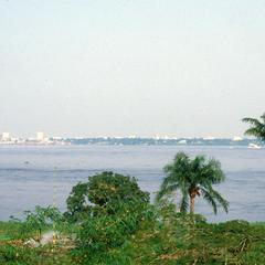 View of Kinshasa from Brazzaville Showing President Mobutu's Boat