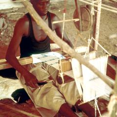 Weaving Cotton Strips